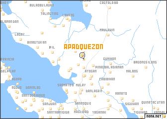 map of Apad Quezon