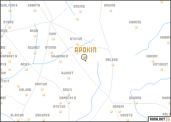 map of Apokin