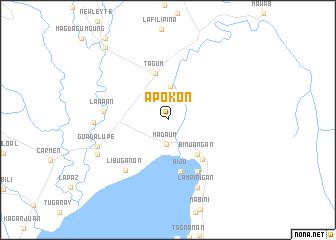 map of Apokon