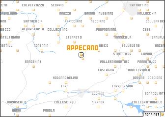 map of Appecano
