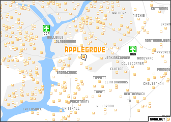 map of Apple Grove