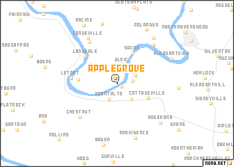 map of Apple Grove