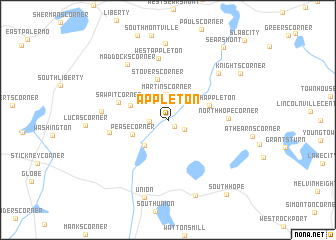 Appleton United States USA map nonanet