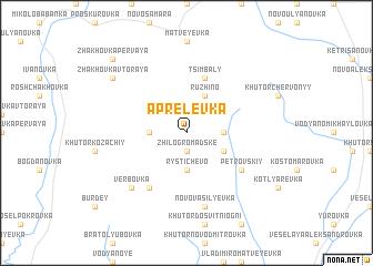 map of Aprelevka