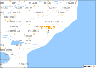 map of Aptrup