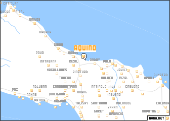 map of Aquino