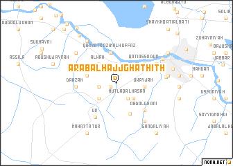 map of 'Arab al Ḩājj Ghathīth