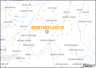 map of 'Arab Tuwayjirīyīn