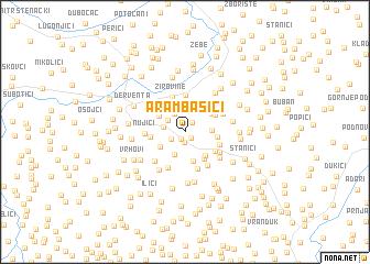 map of Arambašići