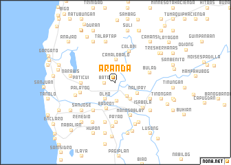 map of Aranda