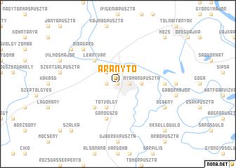 map of Aranytó