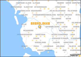 map of Arapólakka