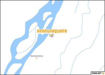 map of Ararunaquara