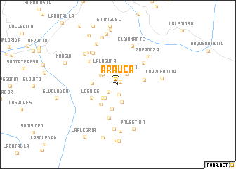 map of Arauca