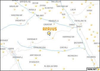 map of Aravus