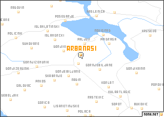 map of Arbanasi