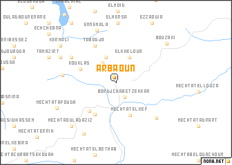 map of Arbaoun