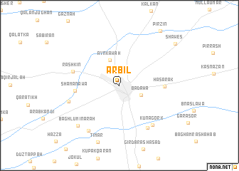 map of Arbīl