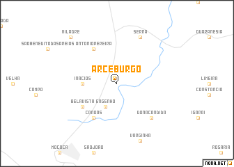 map of Arceburgo