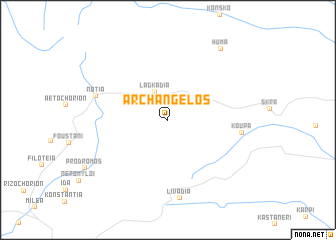 map of Archángelos