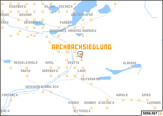 map of Archbach Siedlung