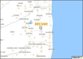 map of Ərçivan