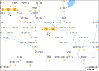 map of Ardanaz