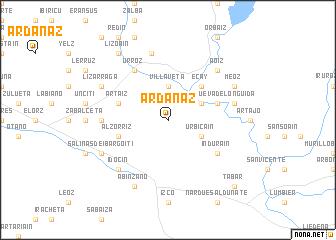 map of Ardanaz