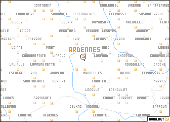 map of Ardennes