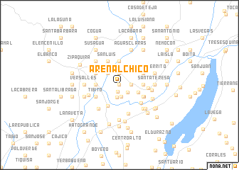 map of Arenal Chico
