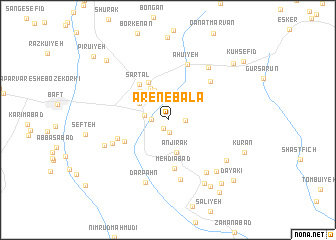 map of Āren-e Bālā
