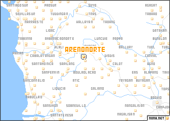 map of Areno Norte