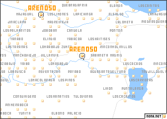 map of Arenoso
