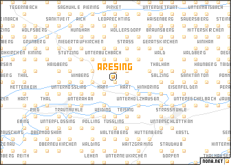 map of Aresing
