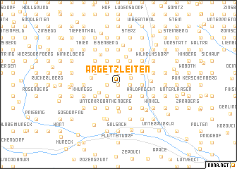 map of Argetzleiten