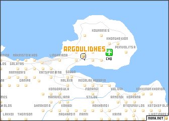 map of Argoulidhés
