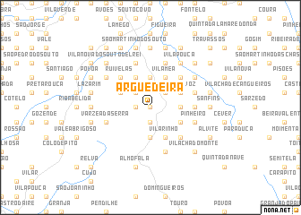 map of Arguedeira