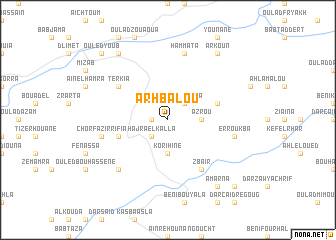 map of Arhbalou