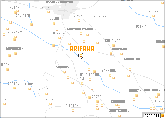 map of Ārifāwa