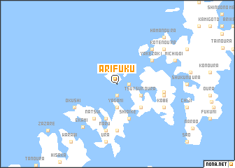 map of Arifuku