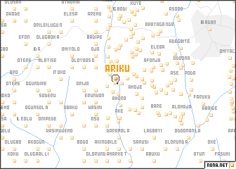 map of Ariku