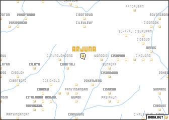 map of Arjuna