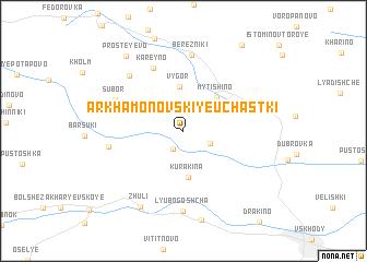 map of Arkhamonovskiye Uchastki