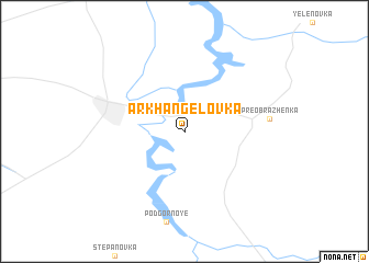 map of Arkhangelovka