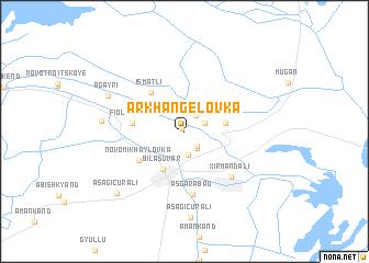map of Arkhangelovka