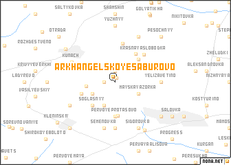 map of Arkhangel\
