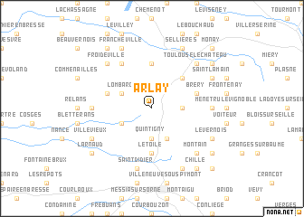 map of Arlay