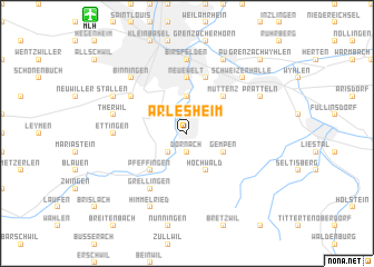map of Arlesheim