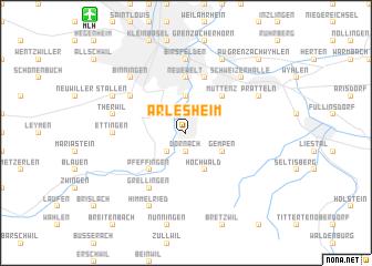 map of Arlesheim