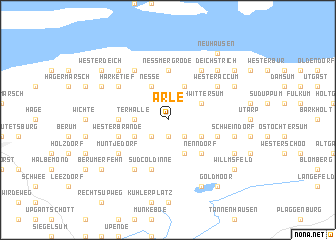 map of Arle